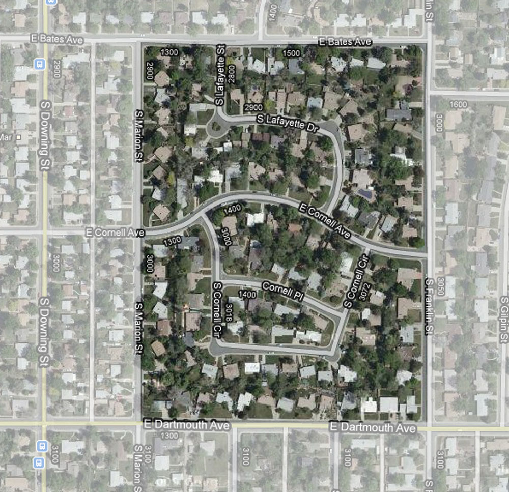 Arapahoe Acres, Aerial View