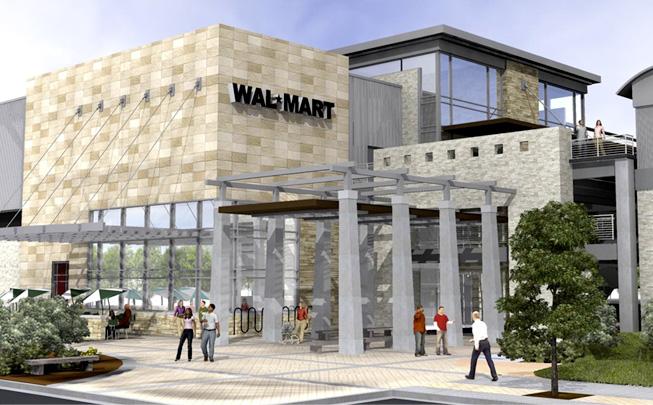 Conceptual Rendering of Urban Walmart