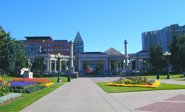 Civic Center Park and Surrounding Buildings
