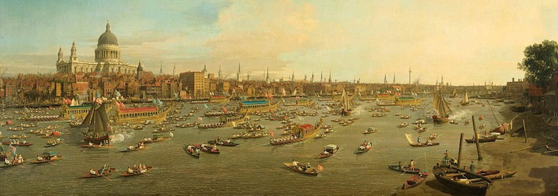 London Skyline By Canaletto 1747