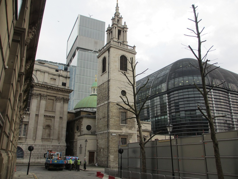 New Court, St. Stephen Walbrook, and The Walbrook (D. Saitta)