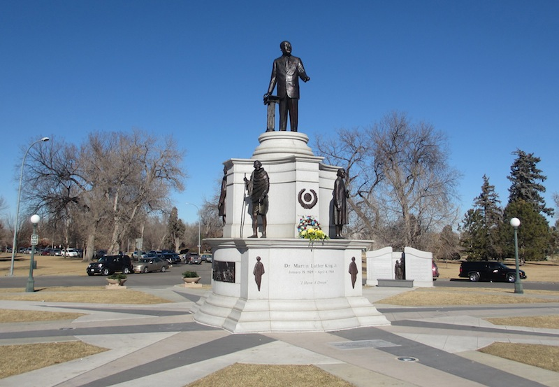 Martin Luther King, Jr. Monument, City Park, Denver, 20 January 2014  (D. Saitta)