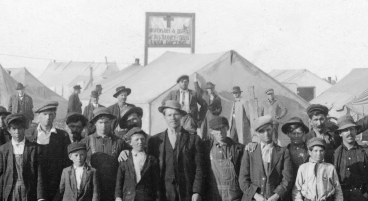 Detail of Tent Colony showing Medical Tent (courtesy Denver Public Library, Western History Collection)