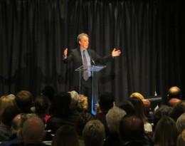 Michael Kimmelman lecturing in Denver (D. Saitta)