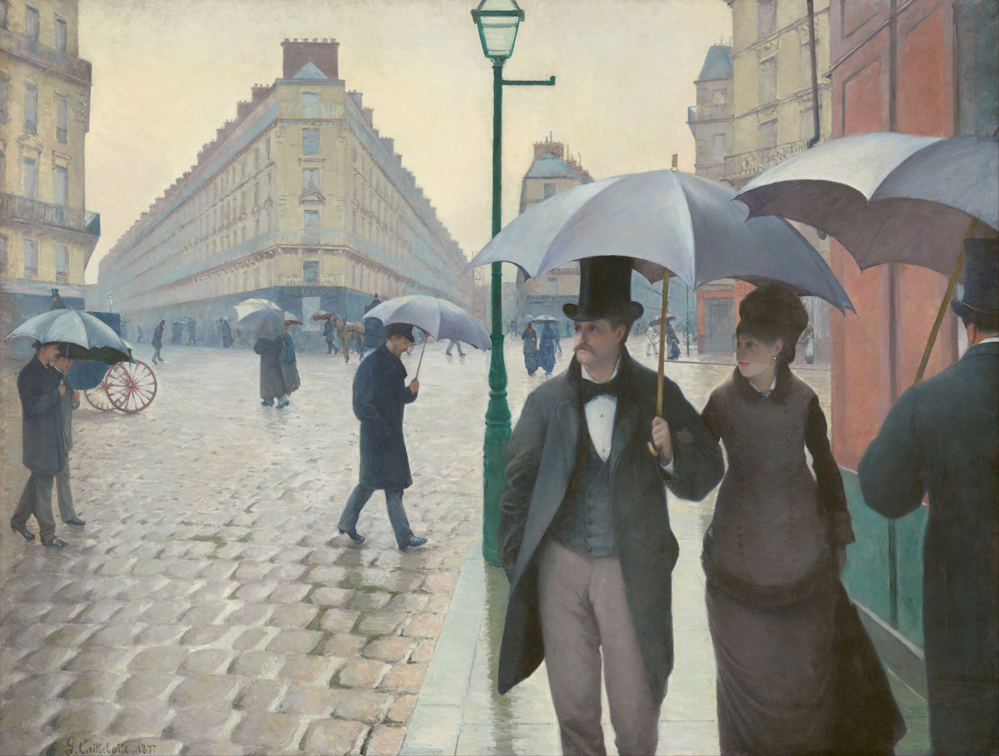 """Paris Street, Rainy Day,"" by Gustave Caillebotte, 1877 (Wikimedia Commons)"