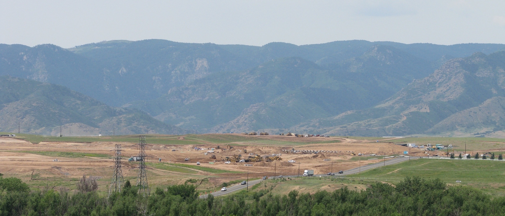 Clearing Land for Sterling Ranch Development, June 2016 (Photograph by D. Saitta)