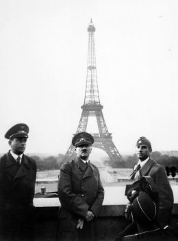Adolf Hitler in Paris with his architect Albert Speer  (left) and the public artist Arno Breker (Wikimedia Commons)